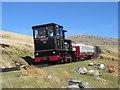 SH6056 : Works train on Snowdon : Week 18