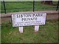 TM3769 : Sibton Park sign by Adrian Cable
