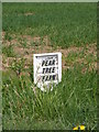 TM2575 : Pear Tree Farm sign by Adrian Cable