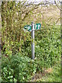 TM2866 : Footpath sign by Adrian Cable