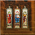 SJ8476 : St Mary's Church, Stained Glass Window (South Wall) by David Dixon