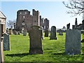NU1241 : Lindisfarne Priory .  Holy Island by Derek Voller