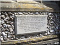 TV6097 : Plaque on the church tower of St John's, Meads by Stanley Howe
