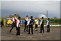 SK7782 : North Leverton windmill - morris men by Chris Allen