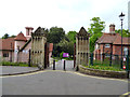 TQ2376 : Fulham Palace:  Gateway and drive by Dr Neil Clifton