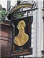 TQ3080 : Sign for The Wellington, The Strand / Wellington Street, WC2 by Mike Quinn