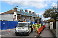 TQ7308 : Roadworks, London Road by Oast House Archive