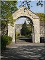 TR1557 : Entrance to Memorial Garden, Canterbury Cathedral by David Dixon