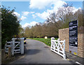 TQ2796 : Gate to Hadley Wood Road by Des Blenkinsopp