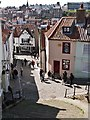 NZ9011 : Church Lane joins Church Street, Whitby by Derek Voller