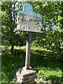 TL0873 : Village sign, Catworth by Bikeboy