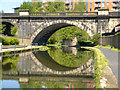 SE2933 : Disused Railway Viaduct, Leeds and Liverpool Canal by David Dixon