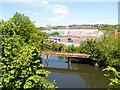 SE2734 : River Aire, Cardigan Trading Estate by David Dixon