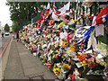 TQ4378 : Tributes to Lee Rigby on Artillery Place (1) by Stephen Craven