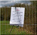 SK6306 : Notice on Security Fence by Andrew Tatlow