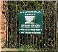 SK6405 : Sign at entrance to Scraptoft Hall by Andrew Tatlow