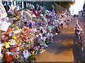 TQ4378 : Tributes along the railings by Marathon