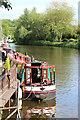 TQ7558 : Narrowboat on River Medway : Week 23
