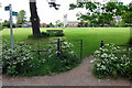 SP8618 : Footpath across the recreation ground by Philip Jeffrey