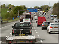 SJ7467 : Southbound M6 approaching Junction 18 by David Dixon