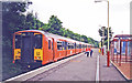 NS2154 : Fairlie station, with electric train, 1998 by Ben Brooksbank
