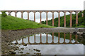 NT5734 : Leaderfoot Viaduct with reflection by Alan Murray-Rust