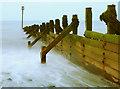 TA3428 : A Groyne on Withernsea Beach at Dusk : Week 25