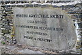 SE2403 : Penistone Show commemoration plaque by Dave Pickersgill