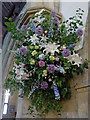 NU1813 : Wedding flowers above the lectern, Alnwick Parish Church : Week 26