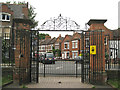 TQ3176 : Cormont Road gates, Myatt's Fields Park by Robin Stott