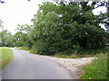 TM3483 : Footpath & entrance to Home Farm by Adrian Cable