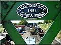 SU6332 : View through 'Handyside' footbridge, Ropley : Week 28