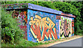 J3470 : Graffiti, Lagan towpath, Stranmillis, Belfast (July 2013) by Albert Bridge