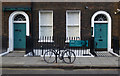TQ3082 : Charles Dickens Museum and bicycle, Doughty Street by Julian Osley