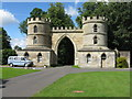 NT7854 : Duns Castle gatehouse by M J Richardson