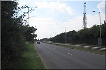TL0850 : Communications mast by the Goldington Road by Philip Jeffrey