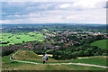 ST5138 : View from Glastonbury Tor by Rossographer