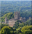 SU4458 : Highclere Castle: view from Beacon Hill, Hampshire by Edmund Shaw
