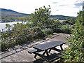 NG7527 : Picnic area at the viewpoint by Richard Dorrell