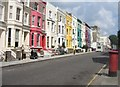 TQ2481 : Colourful houses - Lancaster Road : Week 35