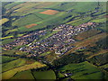 Dist:0.6km<br/>An East Ayrshire village and farmland seen in early morning light.