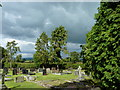 SJ4350 : The churchyard and beyond, Shocklach church by Ruth Sharville