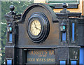 J3376 : Clock, Cassidy's Bar, Belfast by Albert Bridge