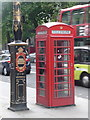 TQ3080 : London: red phone box, 151 Strand by Chris Downer