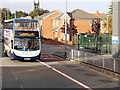 SJ8499 : Metrolink Replacement Bus, Cheetham Hill Road by David Dixon