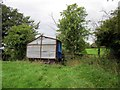 SJ4459 : Stile and Trailer at Lea Newbold by Jeff Buck