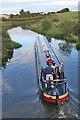 NS8579 : Narrowboat Making Way by Anne Burgess