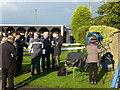 TL2072 : TV crew at Huntingdon Racecourse by Richard Humphrey