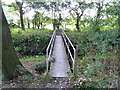 SJ6679 : Footbridge over Arley Brook by Anthony O'Neil
