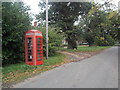 SU4200 : Exbury: red telephone box by Chris Downer